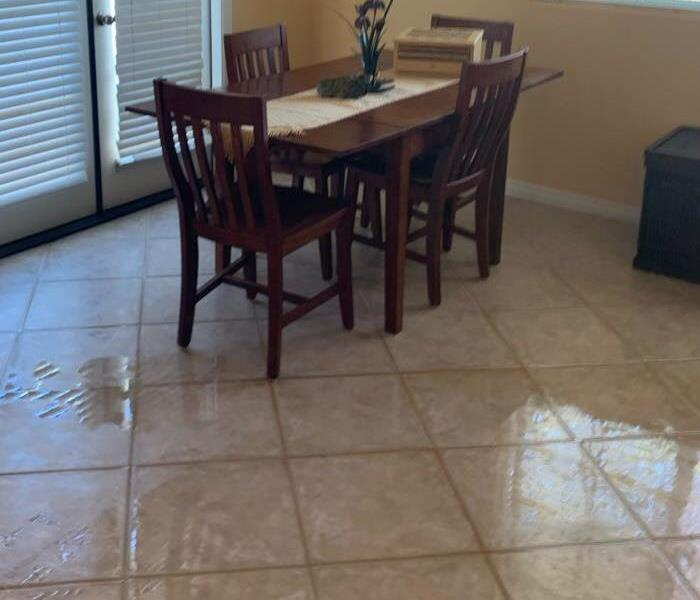 Water Damage in Dining Room