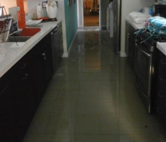 Storm Damage Flooded Hallway